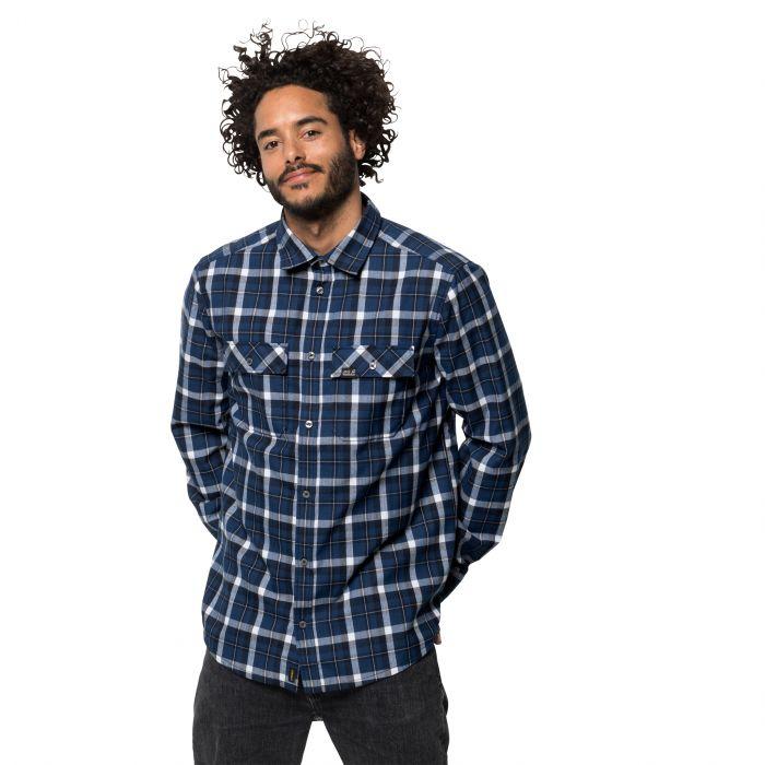 Koszula męska BOW VALLEY SHIRT night blue checks niebieski  BexAd