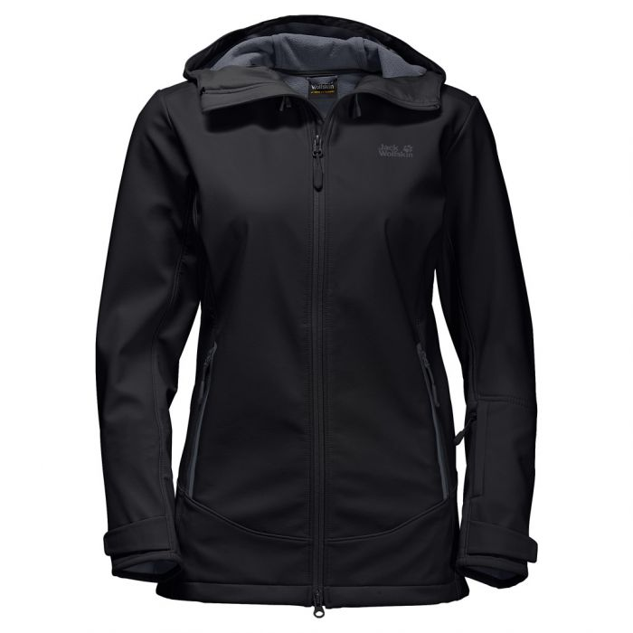 Kurtka softshell WINDY HARBOUR black black Jack Wolfskin