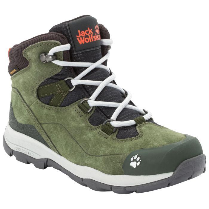 Buty Trekkingowe Dla Dzieci Mtn Attack 3 Lt Texapore Mid K Khaki Phantom Zielony Jack Wolfskin