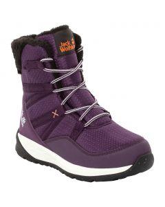 Śniegowce dla dzieci POLAR WOLF TEXAPORE HIGH K purple / off-white
