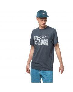T-shirt męski NATURE RELIEF T M Dark Slate