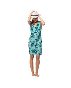 Sukienka WAHIA TROPICAL DRESS aqua all over