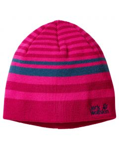 Czapka CROSS KNIT CAP KIDS azalea red
