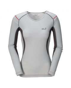 Koszulka MERINO LONG SHIRT WOMEN silver grey