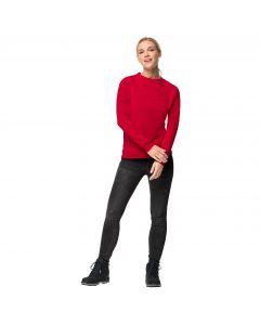 Damska bluza WINTER LOGO SWEATSHIRT W ruby red