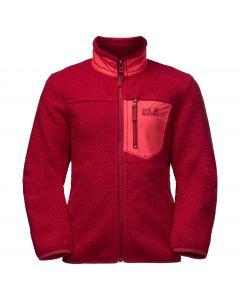 Bluza polarowa dziecięca ICE CLOUD JACKET K Indian Red