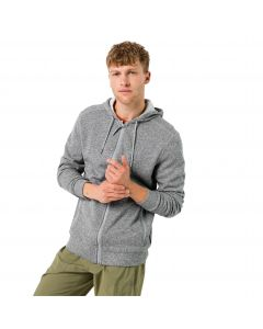 Kurtka polarowa męska FINLEY HOODED JACKET M slate grey