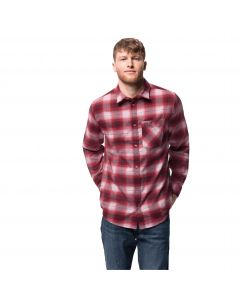 Koszula męska LIGHT VALLEY SHIRT dark lacquer red checks
