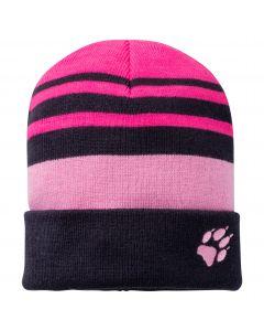 Czapka dziecięca STRIPY KNIT CAP K Pink Peony