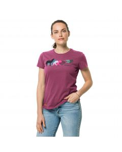 Damska koszulka z krótkim rękawem RAINBOW WOLF T W Violet Quartz