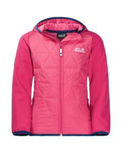 Dziewczęca kurtka GRASSLAND HYBRID JKT hot pink