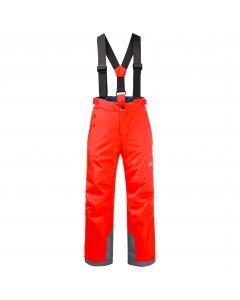 Spodnie narciarskie dziecięce GREAT SNOW PANTS KIDS flashing red