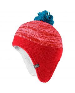 Czapka zimowa dziecięca SNOWFLAKE CAP KIDS fiery red