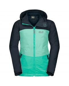 Kurtka dziecięca 3w1 ARGON ICE 3IN1 JACKET KIDS electric green