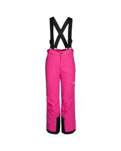 Dziecięce spodnie narciarskie POWDER MOUNTAIN PANTS KIDS pink fuchsia