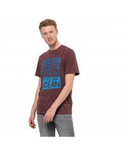 Koszulka z krótkim rękawem męska SEA GROUND T M Cordovan Red