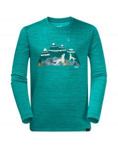 Koszulka dla dzieci VARGEN LONGSLEEVE KIDS green ocean