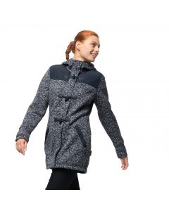 Płaszcz polarowy BELLEVILLE COAT midnight blue all over