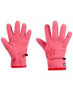 Rękawiczki dla dzieci BAKSMALLA FLEECE GLOVE KIDS coral pink