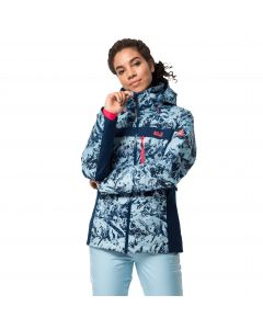 Kurtka narciarska damska PANORAMA PEAK JACKET W frosted blue all over