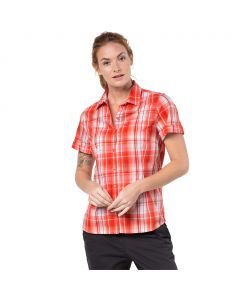 Koszulka MARONI RIVER SHIRT WOMEN hot coral checks