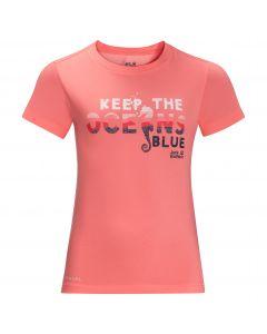 Koszulka dziecięca OCEAN WAVE T KIDS apricot coral