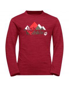 Koszulka z długim rękawem VARGEN LONGSLEEVE KIDS Indian Red