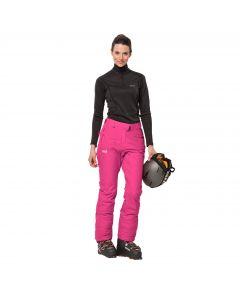 Spodnie narciarskie damskie POWDER MOUNTAIN PANTS W pink fuchsia