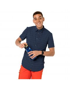 Koszula męska RAYS STRETCH VENT SHIRT MEN night blue checks