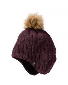 Czapka STORMLOCK BRAID CAP WOMEN burgundy