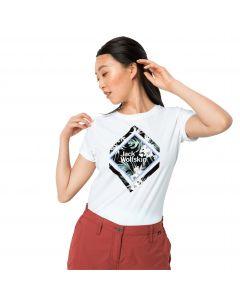 T-shirt damski TROPICAL SQUARE T W white rush