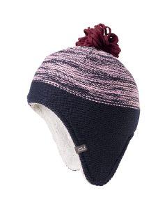 Czapka zimowa dziecięca SNOWFLAKE CAP KIDS lilac