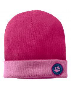 Czapka zimowa dziecięca PAW RIB HAT KIDS pink peony