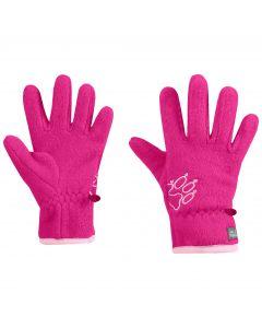 Rękawice dla dzieci BAKSMALLA FLEECE GLOVE KIDS pink fuchsia