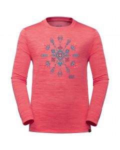 Koszulka dla dzieci VARGEN LONGSLEEVE KIDS coral pink