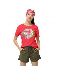 Koszulka damska PARADISE LOGO T W tulip red