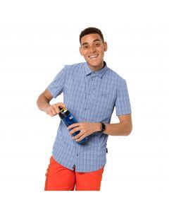 Koszula męska RAYS STRETCH VENT SHIRT MEN shirt blue checks