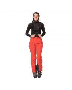 Spodnie narciarskie damskie BIG WHITE PANTS W orange coral