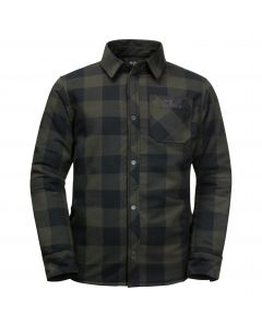 Koszula dziecięca ocieplana WHITEVILLE SHACKET K Bonsai Green Checks