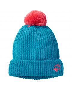 Czapka z pomponem dziecięca SNOW BALL CAP KIDS blue reef
