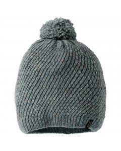 Czapka damska zimowa MERINO CAP WOMEN greenish grey