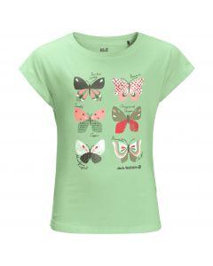 Koszulka dla dziewczynki BUTTERFLY T GIRLS milky green