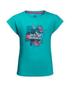 Koszulka dziewczęca TROPICAL T GIRLS aquamarine
