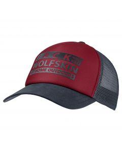 Czapka z daszkiem BRAND MESH CAP dark lacquer red