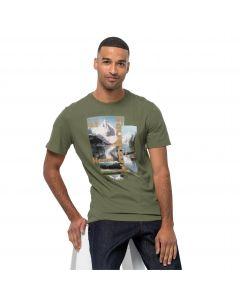 T-shirt męski LAKE MORNING T M light moss