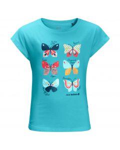 Koszulka dla dziewczynki BUTTERFLY T GIRLS blue capri