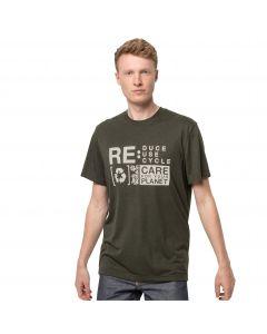 T-shirt męski NATURE RELIEF T M Bonsai Green