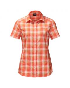 Koszulka ROCK CHILL SHIRT WOMEN papaya checks