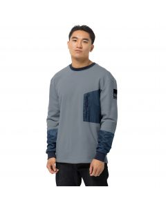 Bluza męska  365 THUNDER POCKET CREW M grey blue