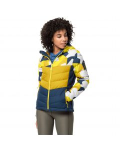 Kurtka puchowa damska 365 HIDEAWAY DOWN JACKET W vibrant yellow all over